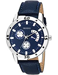 Frosino FRAC101836 Blue dial Analogue Watch with Leather Strap for Men and Boys