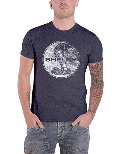 Cobra-logo-t-shirt (Shelby T Shirt Cobra Texture Logo Vintage Distressed Nue Offiziell Herren)
