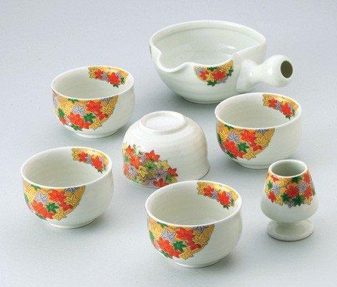 Saikai cerámica hojas de otoño japonés juego de té de Japón 30498
