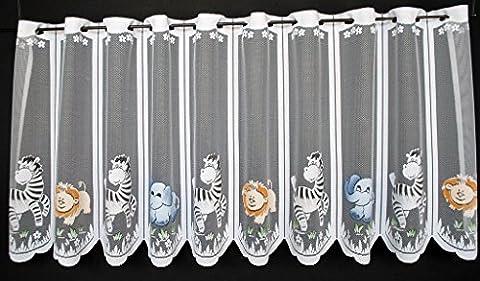 Rideau Animaux - Rideaux brise-bise Animaux Zoo enfants 60 cm