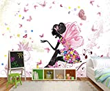 Fototapete Schmetterlingselfe Tapete Kunstdruck Wandbild Vliestapete XXL | M 250 x 175 cm - 5 Teile | Vlies