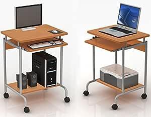 Mobili Porta Computer Prezzo.Techly 305694 Scrivania Per Computer Compact Faggio Amazon It