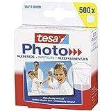 tesa Photo Klebepads, beidseitig klebend zur Erstellung eines Fotobuches, Big Pack mit 500 Stück