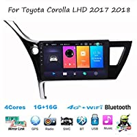 For Toyota Corolla LHD 2017 2018 Sat Nav Double Din Car Stereo Radio GPS Navigation 9 Inch Head Unit Multimedia Player Video Receiver DSP RDS OBD DAB