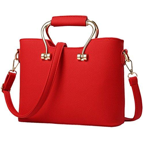 Frauenbeutelhandtaschen-Schulterbeutel Kurierbeutelfreizeitart Und Weiseatmosphäre Einfaches Wildes Elegantes Red1