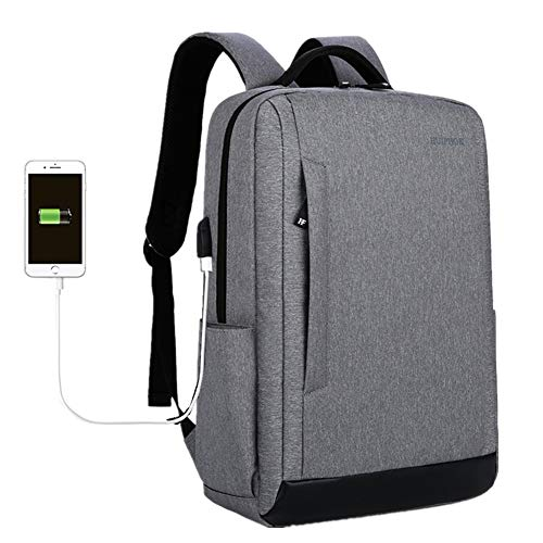 HuntDream Mochila de Viaje antirrobo Business Laptop Mochila Escolar con Puerto de Carga USB Resistente...