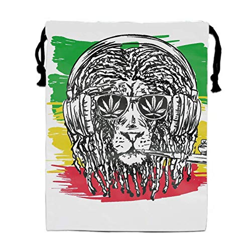 th Turnbeutel Rasta Lion Pouches Sacks Bag for Wedding Favors, Party, DIY Craft ()
