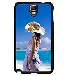 Printvisa Girl On A Beach Back Case Cover for Samsung Galaxy Note 3 Neo N7505