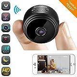 Mini Kamera,Ansteker WiFi Überwachungskamera Drahtloses HD Kamera 1080P mit Bewegungserkennungs Nachtsicht Überwachungskameras, Kindermädchen Haustier Cam für iPhone/Android Telefon/iPad / PC