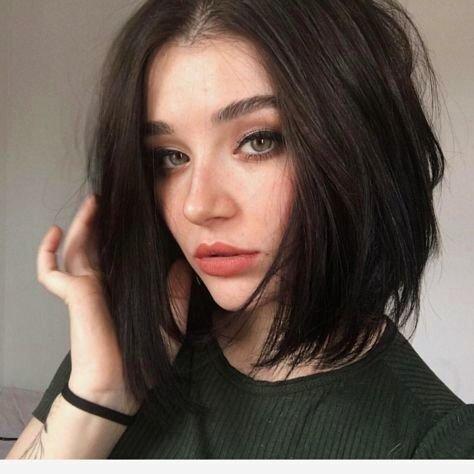 Ugeat 10 Zoll Bob Lace Wig Human Hair #2 Dunkelstes Braun Lace Front Wig Echthaar Density 130%