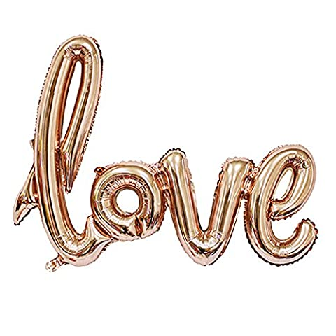 Love Pattern Balloon Aluminum Foil Romantic Wedding Bridal Shower Anniversary Engagement Party Decoration Balloon Valentine's Day Gift