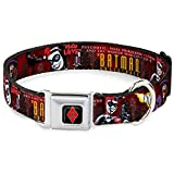 Buckle Down dc-wjk036-l 38,1–66 cm jkg-Harley Quinn Diamant Full Color Schwarz/Rot Dog Halsband, groß