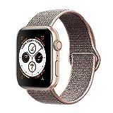 Corki pour Bracelet Apple Watch 42mm 44mm, Nylon Bracelet de Remplacement Bande pour Apple Watch iWatch Séries 4 (44mm), Séries 3/ Séries 2/ Séries 1 (42mm), Rose des Sables