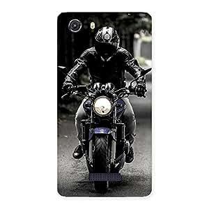 Bike Rider Multicolor Back Case Cover for Micromax Unite 3
