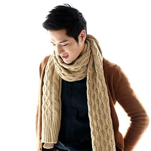 Écharpes de mode/ chaud hiver châles/Laine grossière épais tricot écharpe longue bi-fold masculine A