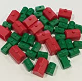 Monopoly Replacement Pieces: Houses & Ho...