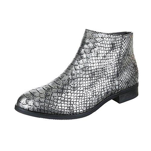 Ital-Design, Bottes pour Femme Silber