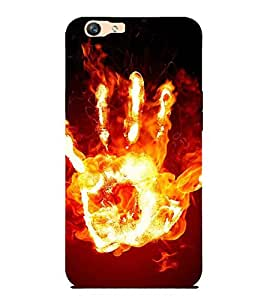For Oppo F1s hand Printed Cell Phone Cases, burning Mobile Phone Cases ( Cell Phone Accessories ), fire Designer Art Pouch Pouches Covers, art Customized Cases & Covers, pattern Smart Phone Covers , Phone Back Case Covers By Cover Dunia