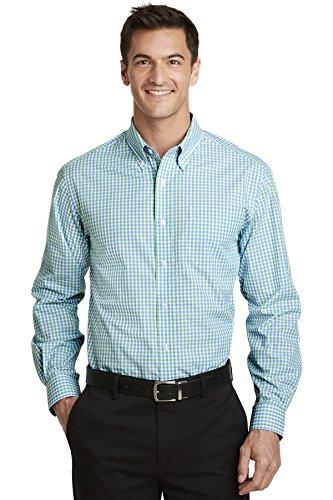 Port Authority Men's Long Sleeve Gingham Easy Care Shirt - Easy Care L/s Shirt