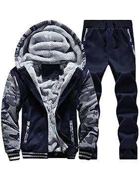 [Patrocinado]Chándal hombre Amlaiworld Sudadera con capucha Chaqueta deportiva + Pantalones Conjunto de Trajes