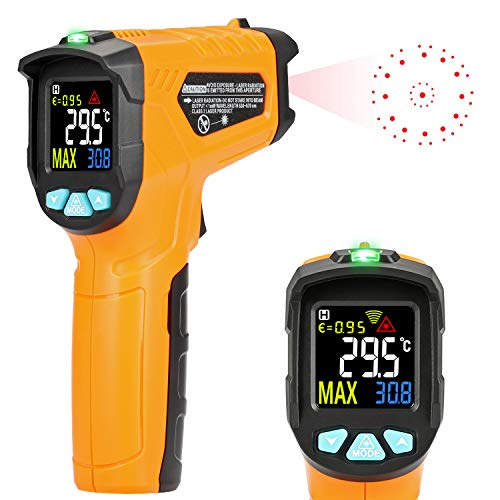 AD50 IR Laser Digital Thermometer -50°C bis 600°C kontaktfreies mit Farbe lcd 12-Punkte-Laserkreis Farbbildschirm Alarmfunktion bei Über/Unterschreitung der Temperatur ()