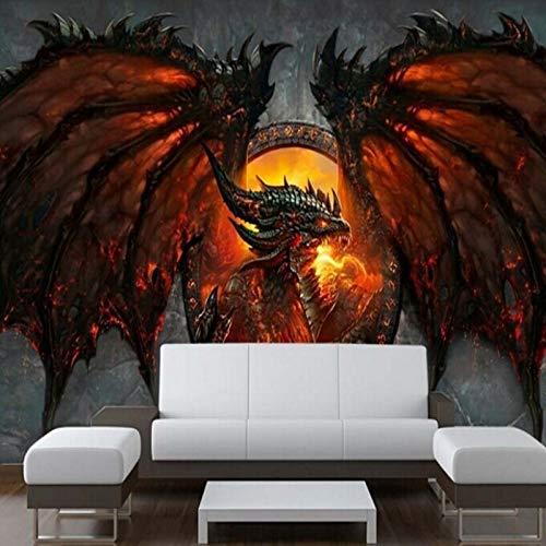 CHENYAN Papel Pintado Fondo De Pantalla 3D Foto De Dragón Gran Fondo De Pantalla Único Interior Art Deco Dormitorio Para Niños Habitación Beibehang Fondo De Pantalla En 3D, W350Cm * H256Cm