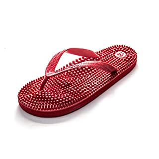 Revs Red Reflexology Massage Flip Flops. A flip fop with a Purpose. Enjoy Increased Energy & Relaxation with a Daily Foot Massage. Comfortable Therapeutic Summer Footwear to Revitalise Your Sole.