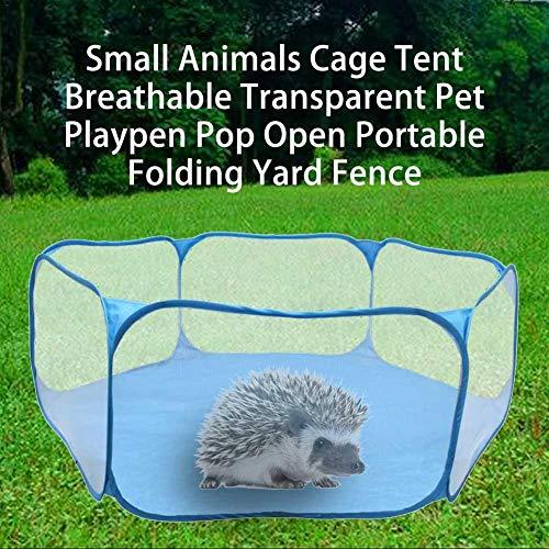 Ruluti 1pc Jaula para Conejos Carpa Transparente Erizo PequeñA Jaula para Mascotas Parque Infantil Abierto del Estallido PortáTil Plegable Valla Yard para El Erizo Conejillo De Indias De Conejo