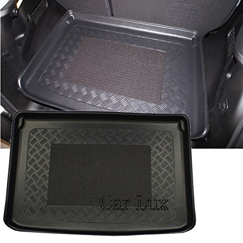 Car Lux AR03197 - Alfombra Cubeta Protector cubre maletero a medida para 500 L desde 2012 con antideslizante