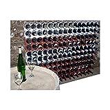 Casiers à bouteilles couleur Brique, Design et empilables