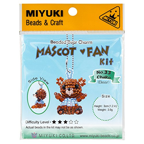 Miyuki Perlen Maskottchen Fan Kit   Nr. 33Teddy Bär - Maskottchen