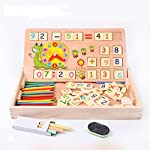 Multi Functional Digital Computing Learning Box comes With A Wooden Storage Box, Including 9 Math Symbols And Number Blocks 60 pcs and Counting Rods. It has two sided board with three colour chalks and duster. The Sticks Are All Dyed Different Colour...