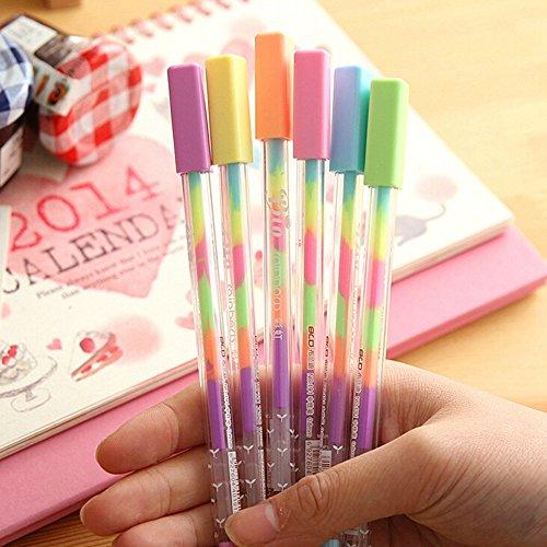 Prochive 1?PCS mit sechs Farbe Gel Pens, Gradient Farbe Stift, Zeichen Stifte, Bling-Roller Stifte, Maker Stifte f¨¹r Scrapbook Deco, Malen, Zeichnen, Hochzeit