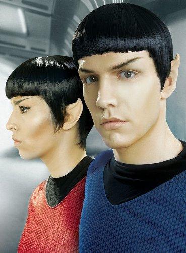 Kirk Kostüm Und Spock - Unbespielt Halloween Karneval Party Kostüm Star Ears Ohren Latexapplikation für Erwachsene