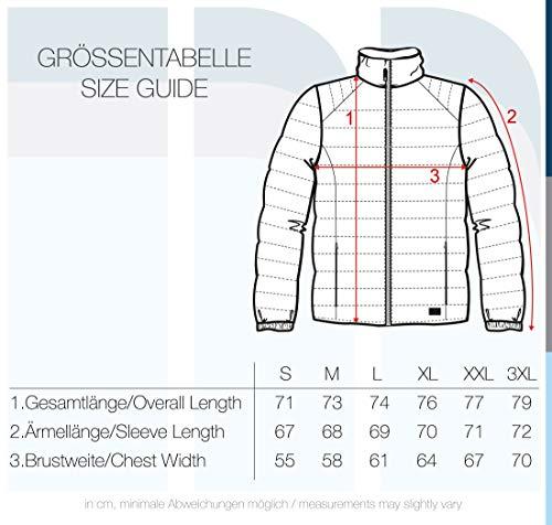 Blend Nils Herren Steppjacke Übergangsjacke Jacke Mit Stehkragen, Größe:3XL, Farbe:Burnt Olive (77011)