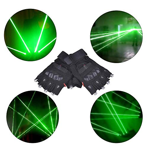 ANLW Light Up LED Hand Handschuhe Neuheit Geschenke Light Up Finger Glow für Festivals Flashing, Halloween, Bonfire Night, Party, Spiele Light Up Toys Weihnachten (Schwarz)