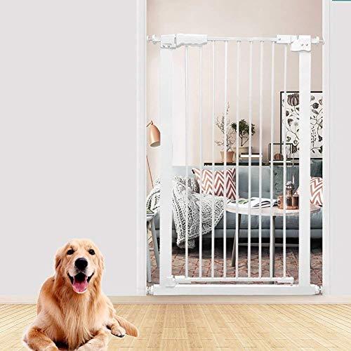 LYQZ Innensicherungsgatter Extra hohes Haustier-Tor für Hunde Katzen Extra breites Baby-Sperre für Türen Treppenflur Weißes Metall 61-168cm breit (größe : 87-97cm)