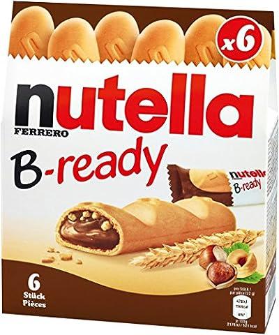 Nutella B-ready deutsche Version mit 22g pro Riegel, 1er Pack (1 x 132g) (Nutella Ferrero)