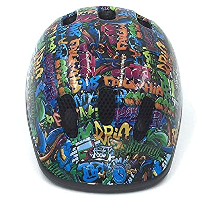 """Coyote GRAFFITI BOYS OR GIRLS CYCLE HELMET FOR CYCLING,BIKES,SCOOTERS 48-52cm VERY ADJUSTABLE """"EZFIT II"""" SYSTEM from COYOTE"""