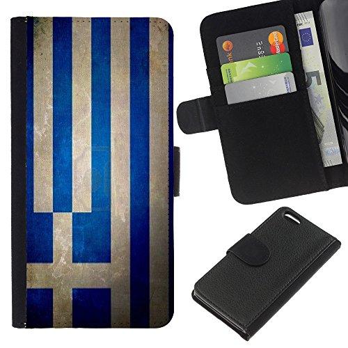 Graphic4You Vintage Uralt Flagge Von Slowakei Slowakisch Design Brieftasche Leder Hülle Case Schutzhülle für Apple iPhone 5C Griechenland Griechisch