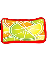Snoogg Eco Friendly Canvas Citrus Wedge Background Card In Vector Format Student Pen Pencil Case Coin Purse Pouch...