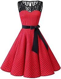 11ff65162e34 Bbonlinedress Donna 1950 Vintage Senza Maniche Rockabilly Cocktail Swing  Dress