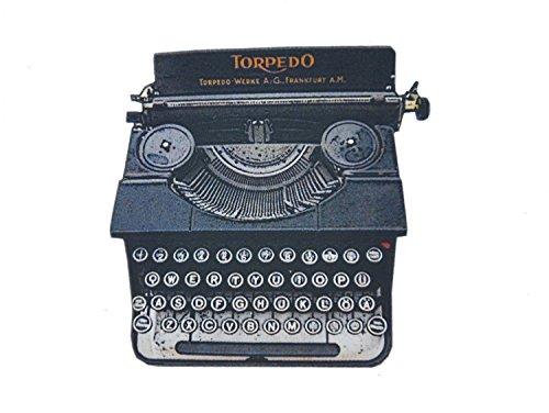 Miniblings Antike Schreibmaschine Laserprint Brosche Anstecknadel Holz Schreibmaschine