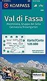 Carta escursionistica n. 686. Val di Fassa, Marmolada, Gruppo di Sella, 1:25.000: Wandelkaart 1:25 000
