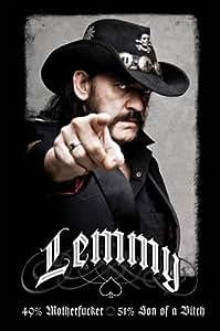 Poster Lemmy Kilmister Motörhead (61cm x 91,5cm) + un joli emballage cadeau