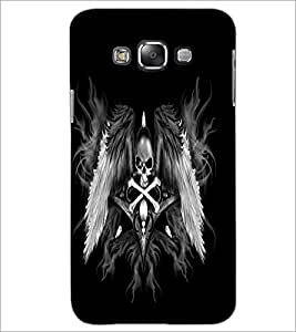PrintDhaba Skull and Bone D-2197 Back Case Cover for SAMSUNG GALAXY GRAND 3 (Multi-Coloured)
