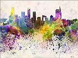 Posterlounge Forex-Platte 130 x 100 cm: Peking-Skyline von Editors Choice