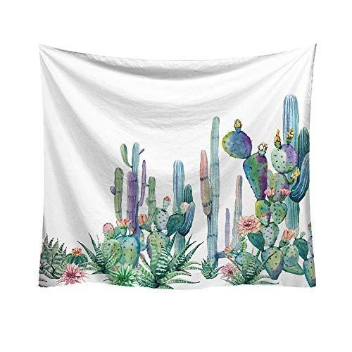 Qmber 2019 Tapestry Hippie Golden Boho Indischer Weiss Wandbehang Tuch Groß Indien Baumwolle Wand tucher Mode Grün Kaktus Art Muster Dekorativ/A1