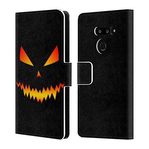 Head Case Designs Offizielle PLdesign Jack O Lantern Halloween Leder Brieftaschen Huelle kompatibel mit LG G8 ThinQ