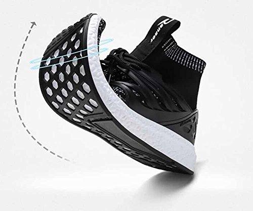 Hommes Casual Chaussures De Course Confortable Chaussures De Sport Élégant Respirant Noir Noir